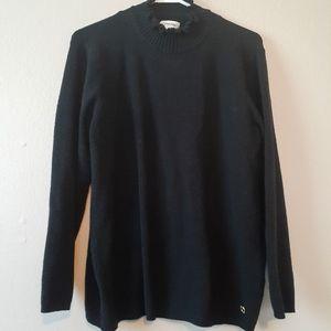 Calvin Klein Black Mock Neck Knit Soft Sweater